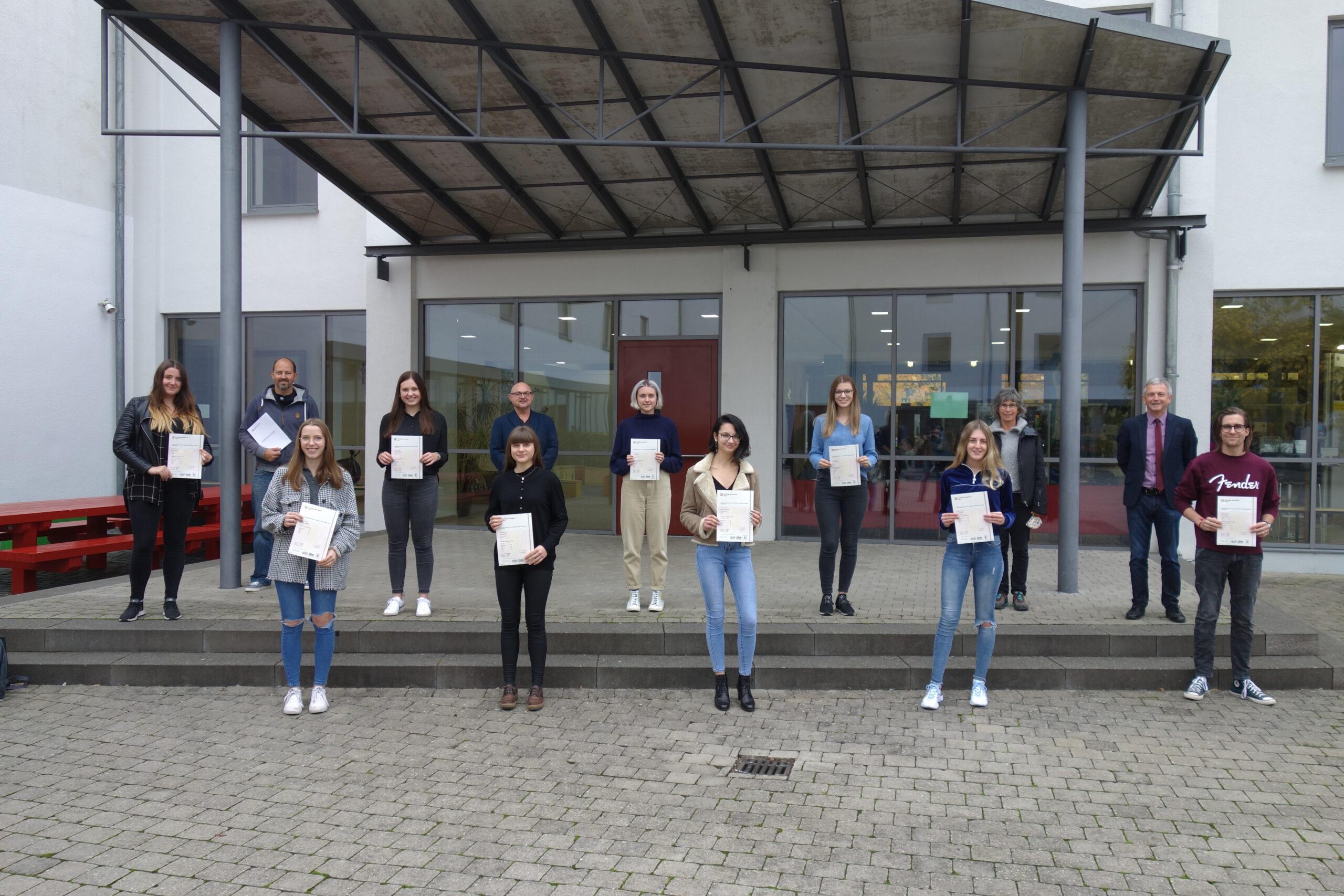 Die erfolgreichen Teilnehmerinnen und Teilnehmer an der CAE Prüfung